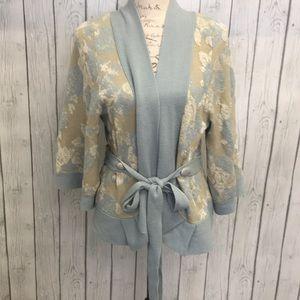 Anthro Moth Winter Solstice Kimono Cardigan